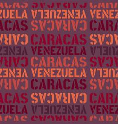 Caracas venezuela seamless pattern vector