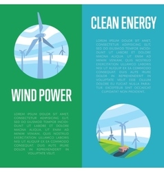 Clean energy and wind power vertical banners vector
