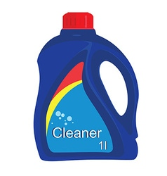 Cleaner bottle icon vector