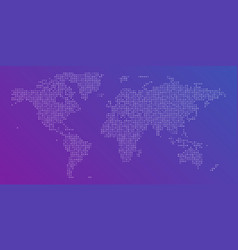 colorful dotted map world vector image