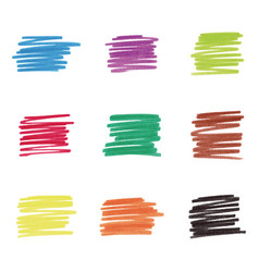 colorful marker stains vector image
