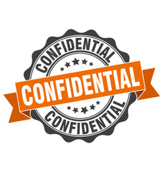 Confidential stamp sign seal vector