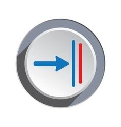 Deadline move icon direction cursor arrow to vector