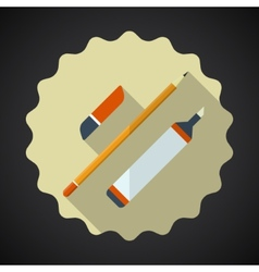 Designer drawing items include pencil eraser vector