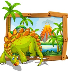 Dinosaur living by the lake vector image