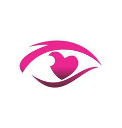 eye love vision logo icon vector image