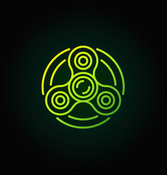 fidget spinner green icon vector image
