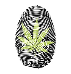 Fingerprint-Marijuana-print vector