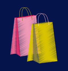 Flat shading style icon paper bag vector