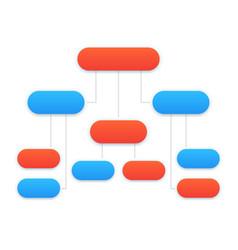 Flowchart template modern design vector