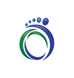Foot logo vector
