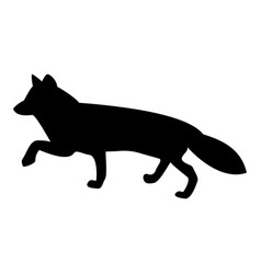Fox of silhouettes the black color icon vector