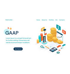 Gaap - generally accepted accounting principles vector