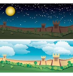 great wall of china vector image vector image