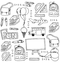 Hand draw education school doodles vector image