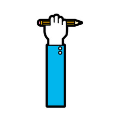 hand with pencil tool design vector image