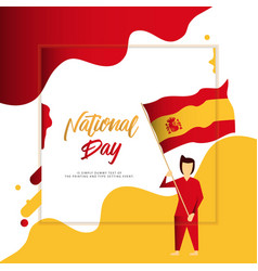 Happy spain national day template design vector