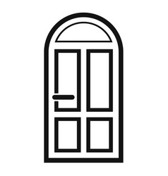 House door icon simple style vector