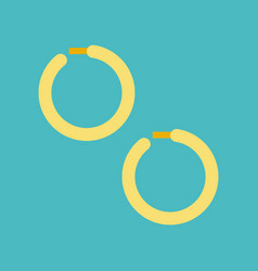 Huggie earring jewelry related icon flat design vector