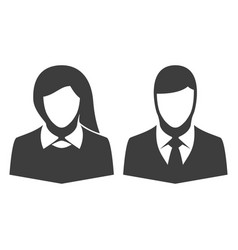 icon man and woman vector image
