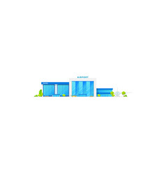 international airlines airport terminal and hotel vector image