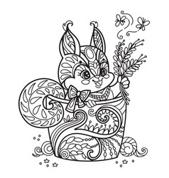 Cute Kawaii Animals Coloring Pages Vector Images Over 500
