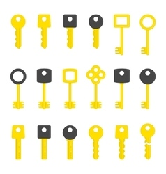 key set vector image