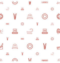 Line icons pattern seamless white background vector