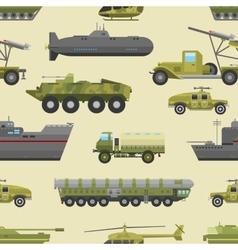 Military trucks pattern vector image