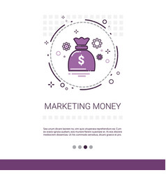 money marketing vision business idea banner with vector image