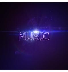 Music 3D Neon Sign vector