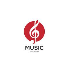 music logo with circle vector image