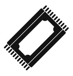 Muslim prayer mat icon simple style vector