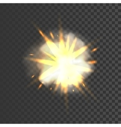 New realistic explosion sign vector image