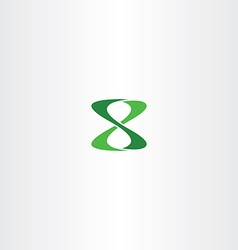 number 8 eight logo green icon vector image