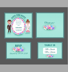ornate wedding invitation cars vector image