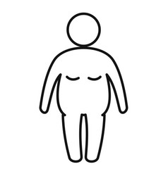 Overweight student icon outline style vector