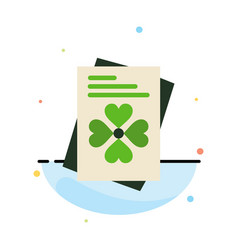 Passport world ireland abstract flat color icon vector