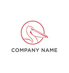 Pelican fund business logo vector