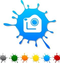 Photo blot vector image