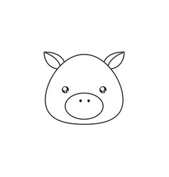 pig drawing face vector image