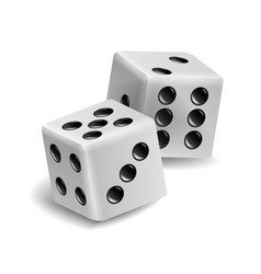 Playing dice set realistic 3d vector