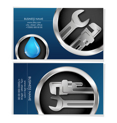 Plumber business card concept vector