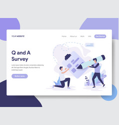 question and answer survey vector image