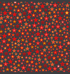 red and gold five pointed stars vector image
