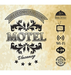 Retro styled motel background vector image
