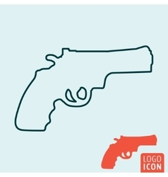 Revolver icon isolated vector image