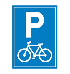road sign bicycle parking vector image