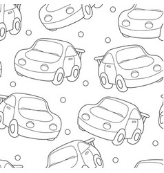 seamless coloring pattern black and white vector image