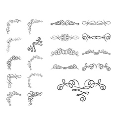 Set of delimiters - curly elements vector